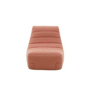moderner Stuhl / Polster / Stoff / rosa