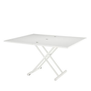 moderner Tisch / lackiertes MDF / lackiertes Metall / lackierter Stahl