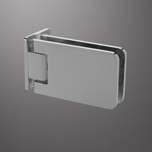 Glastüren-Scharnier / für Möbel / Metall / mit selbstschließendem System