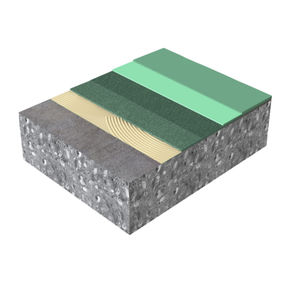 Polyurethan-Boden / Dekor / Akustik / für Tertiärsektor