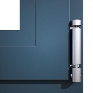 Scharnier für Fenster / Aluminium / unsichtbar / für Privatgebrauch