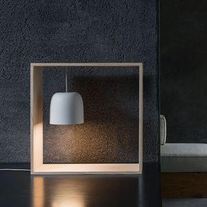 Tischlampe / modern / aus Esche / Polycarbonat