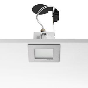 Halogen-Downlight / quadratisch / Aluminiumguss / für Privatgebrauch