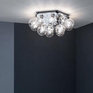 moderne Deckenleuchte / Stahl / poliertes Aluminium / LED