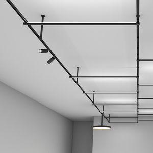 Hängeleuchte / LED / rund / Metall