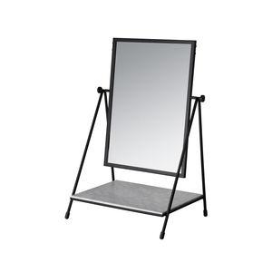 Stell--Spiegel / mit Regal / schwenkbar / modern