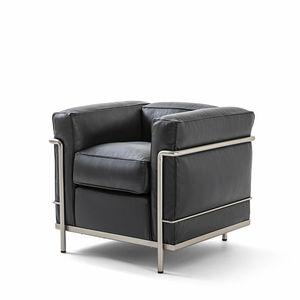 moderner Sessel / Nickel / Stoff / Öko
