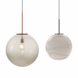 Hängelampe / modern / Rauchglas / geblasenes Glas