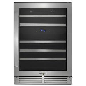 Unterbau-Weinkühlschrank / Metall / verglast