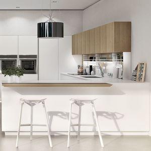moderne Küche / Aluminium / Stahl / Porzellan