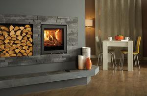 Multibrennstoff-Kamin / Holz / modern / geschlossene Feuerstelle