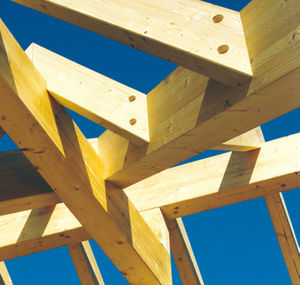 Holz-Dachstuhl / massiv / für Carport / Objektmöbel