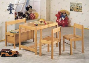 moderne Polsterbank / Holz / für Kinder (Unisex) / mit Rückenlehne