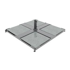 Sonnenschirmständer / verzinkter Stahl / Beton