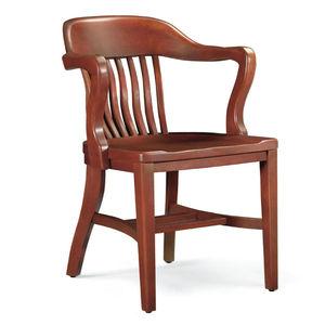 klassischer Stuhl / Polster / mit Armlehnen / mit abnehmbarem Kissen