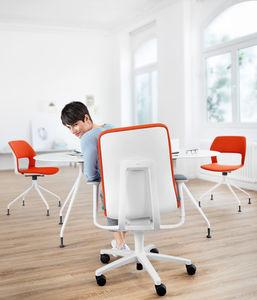 moderner Bürostuhl / mit Rollen / Kopfstütze / Hochlehner