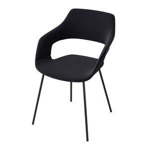 moderner Konferenzstuhl / Polster / Stapel / Metall