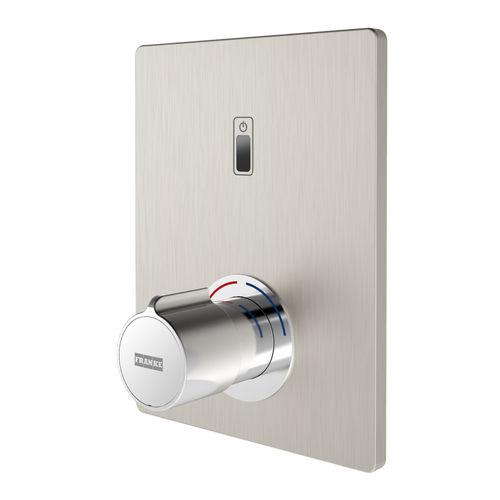 Einhebelmischer für Duschen / wandmontiert / aus verchromtem Messing / Edelstahl