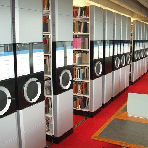 Verschieberegal für Bibliotheken