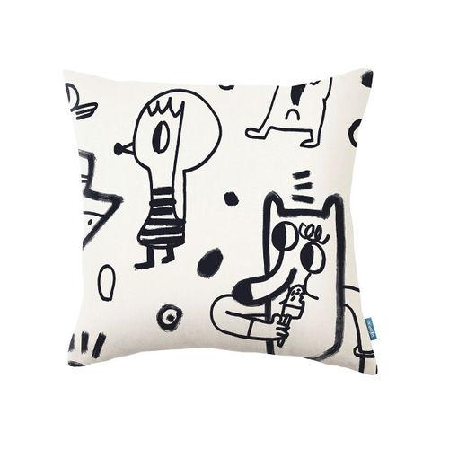 quadratisches Kissen / Motiv / Baumwolle