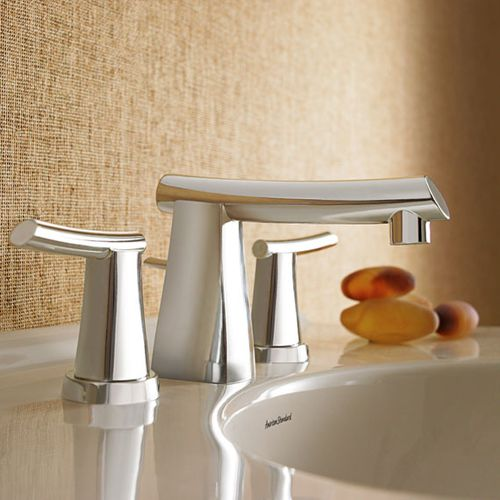 Mischbatterie für Waschtisch / freistehend / Edelstahl / für Badezimmer