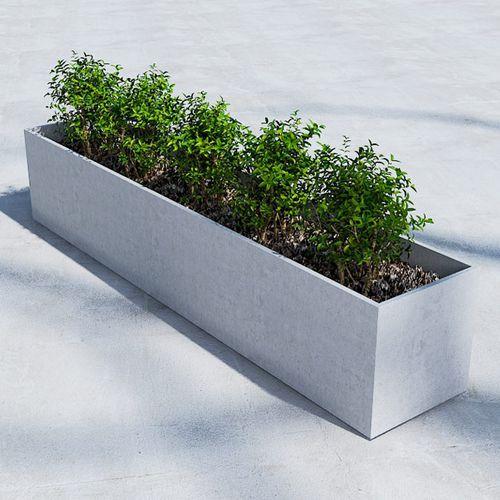 Faserbeton-Pflanzkübel / rechteckig / modern / für öffentliche Bereiche