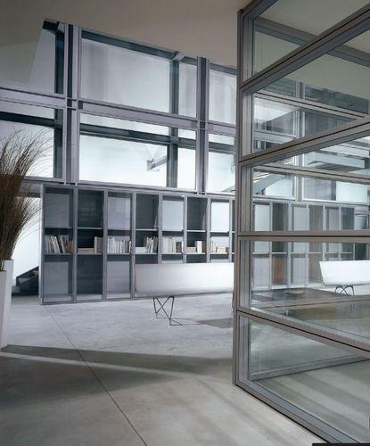 festinstallierte Trennwand / Glas / Büro / Akustik
