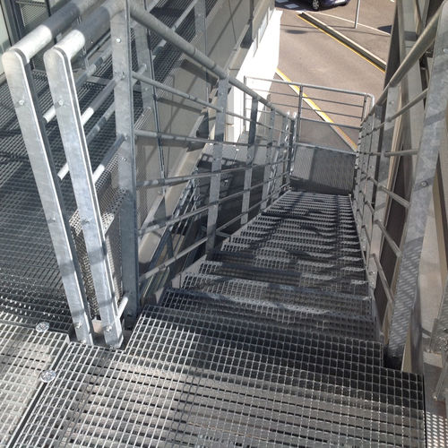 Gitterrost für Treppenhäuser