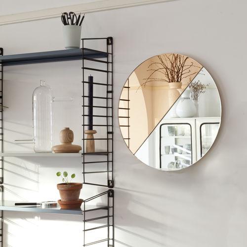 wandmontierter Spiegel / modern / rund / Objektmöbel