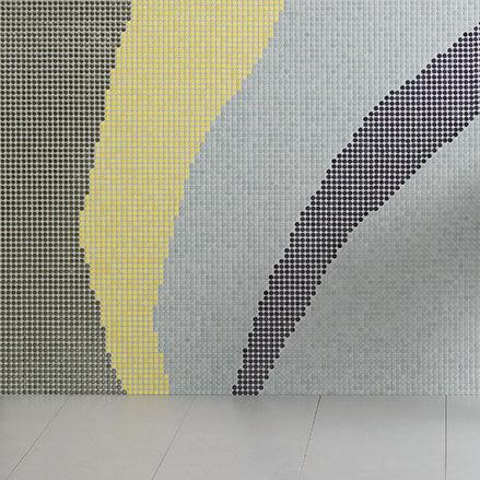 Innenraum-Mosaikfliese / Wand / Feinsteinzeug / rund