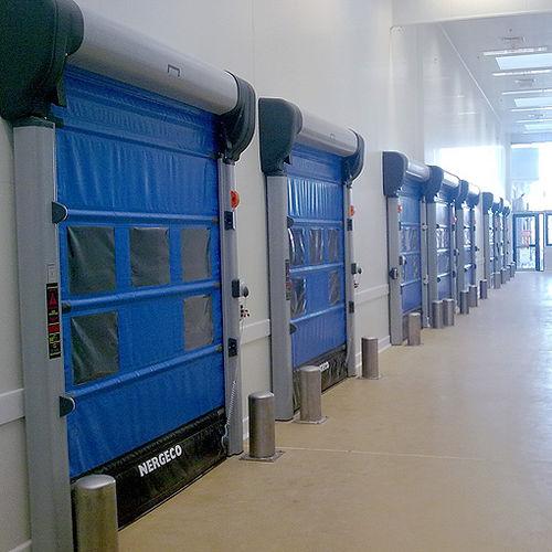 faltbares Industrietor / Verbundwerkstoff / PVC / automatisch