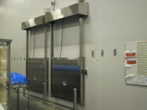 Schlagmesser-Industrietor / Metall / automatisch / verglast