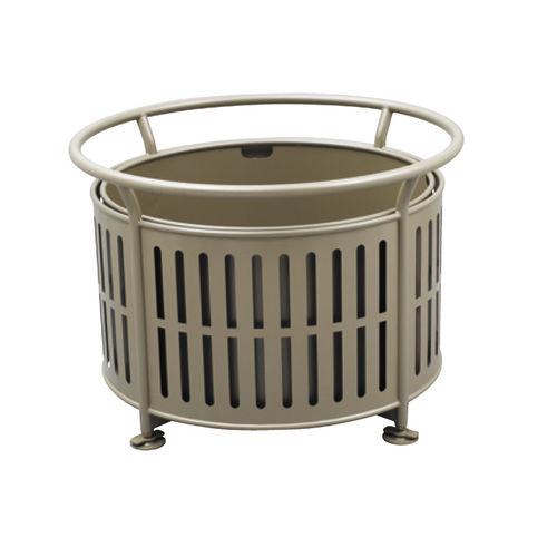 Stahl-Pflanzkübel / rund / modern / für öffentliche Bereiche