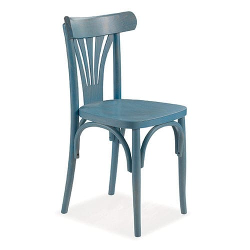 Klassischer Stuhl Brassia Cucine Lube Aus Nussbaum Massivholz Blau