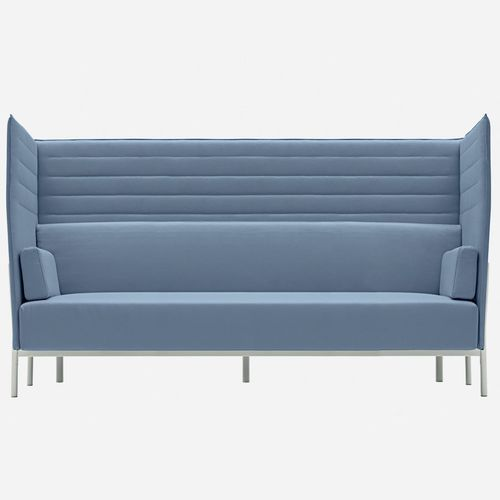 kompaktes Sofa / modern / Stoff / Leder