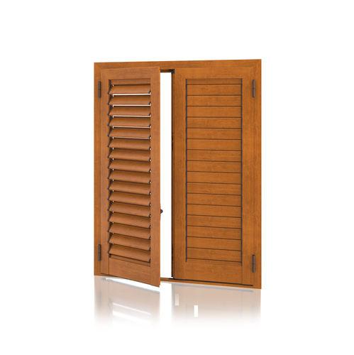 einflügeliger Fensterladen / Aluminium / Tür / mit Jalousie