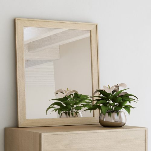 Stell--Spiegel / modern / rechteckig / aus Esche