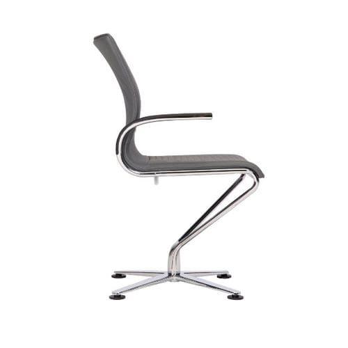 Konferenzstuhl mit Armlehnen / Polster / drehbar / Stoff