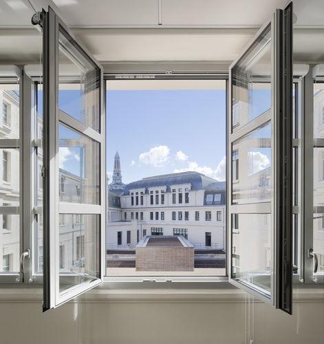 Flügelfenster / Schiebe-Kipp / Balg / Aluminium