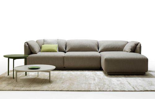 modernes Sofa / Stoff / Leder / Polyurethanschaum