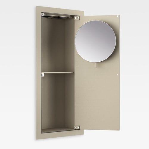 moderner Badezimmer-Schrank / MDF / mit Spiegel
