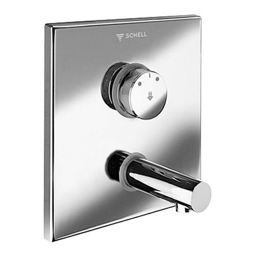 Einhebelmischer für Waschbecken / wandmontiert / aus verchromtem Messing / Edelstahl