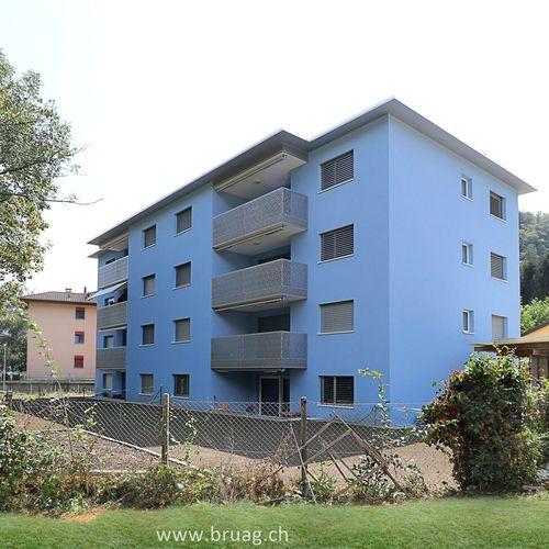 Platten-Balkon / Verbundwerkstoff / HPL