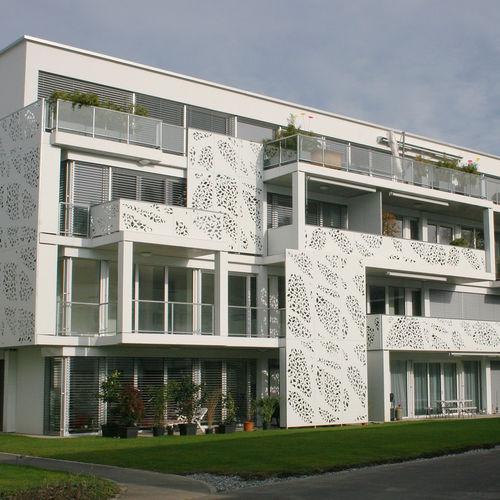 HPL-Geländer / aus MDF / Platten / Außenbereich