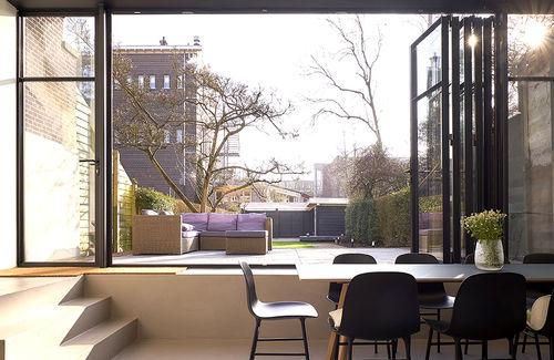 faltbare Tür / für Innenbereich / Stahl / für öffentliche Einrichtungen