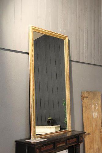 wandmontierter Spiegel / klassisch / rechteckig / Holz