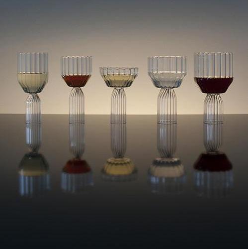 Glas-Sektkelch