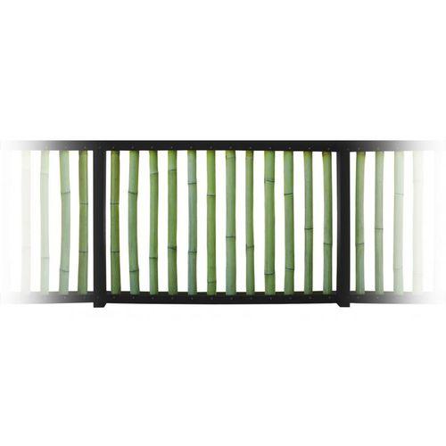 Holzgeländer / Stahl / mit Stangen / Außenbereich