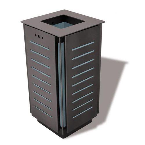 Park-Abfallbehälter / Stahlblech / modern