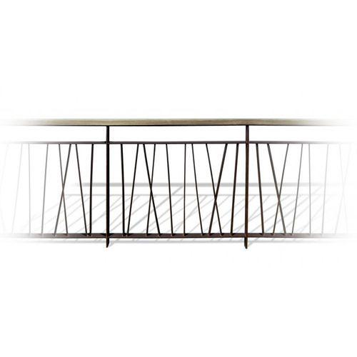 Stahlgeländer / Holz / mit Stangen / Außenbereich